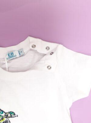 T-shirt mezza manica cotone bianca MELBY