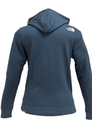 The North Face felpa full zip con cappuccio azzurra