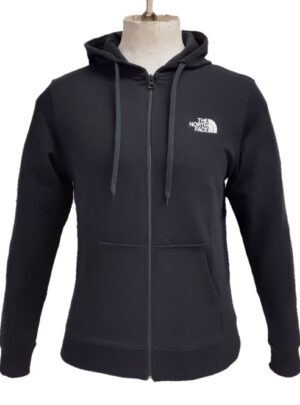 The North Face Felpa full zip con cappuccio nera