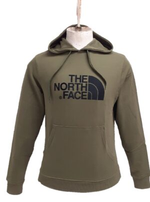 The North Face felpa con cappuccio verde militare