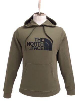The North Face felpa con cappuccio verde militare