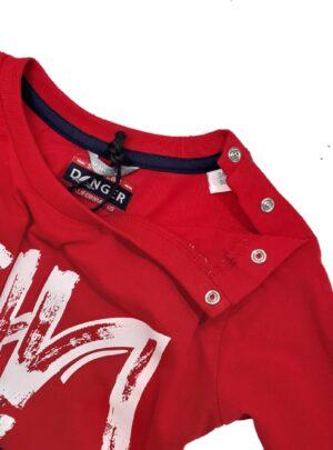 T-shirt manica lunga cotone rosso