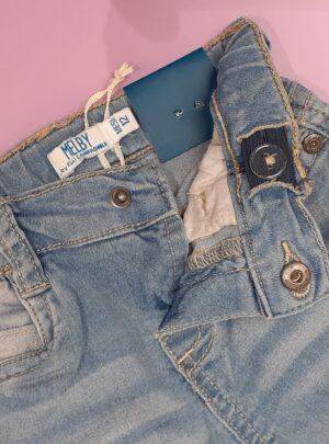 Jeans elasticizzato morbido lavaggio chiaro MELBY