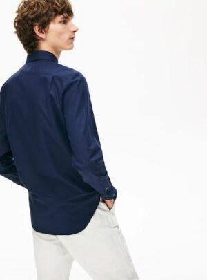 Camicia blu manica lunga