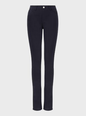 Pantaloni in satin blu