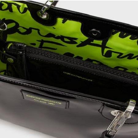 Shopper MyEA Bag vernice nera grande B