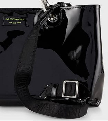 Shopper MyEA Bag vernice nera grande C