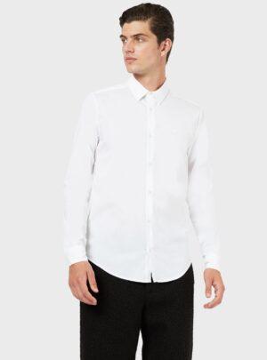 Camicia bianca di tela