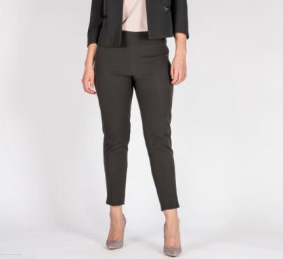 Pantalone nero con zip in oro