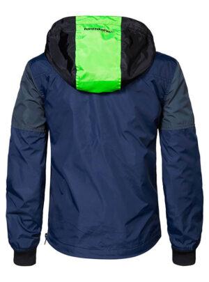 Giubbino nylon blu/verde