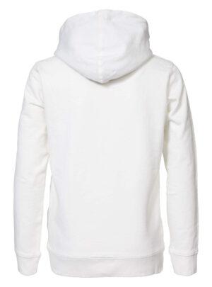 Felpa bianca con cappuccio