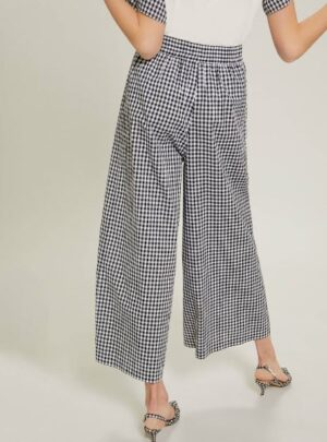 Pantalone a quadretti cotone