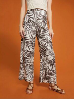Pantalone in lino fatasia