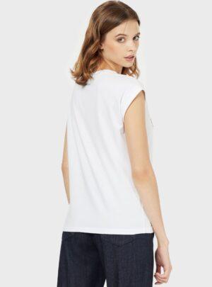 Paillettes T-shirt  bianca