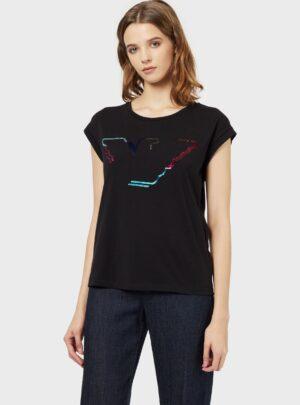 Paillettes T-Shirt  nera