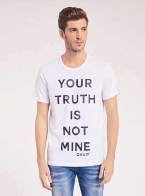 T-shirt con lettering