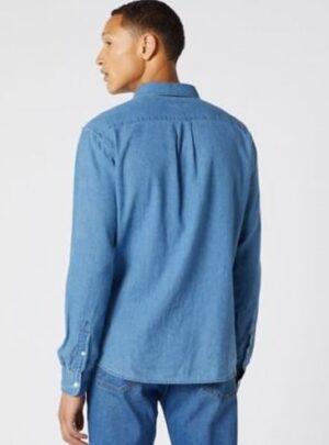 Wrangler Camicia denim blu