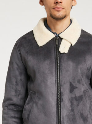 Bomber effetto suede
