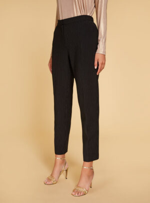 Pantalone in jersey gessato