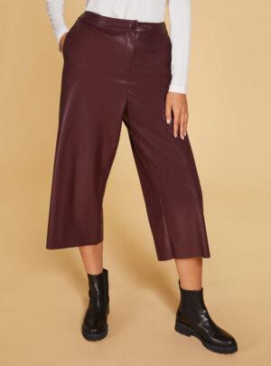 Pantalone effetto pelle