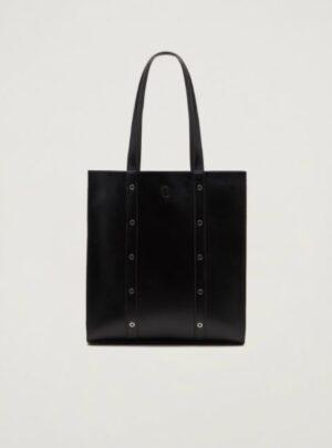 Shopping bag con borchie.