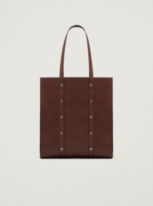 Shopping bag con borchie