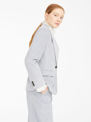 Blazer in velluto di cotone