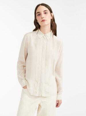 Camicia in seta e jersey