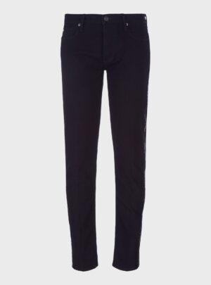 Jeans J75 slim fit in denim con tape logato