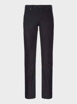 Pantaloni J06 slim fit in tessuto armaturato tinto filo