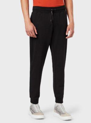 Pantaloni joggers in felpa stretch