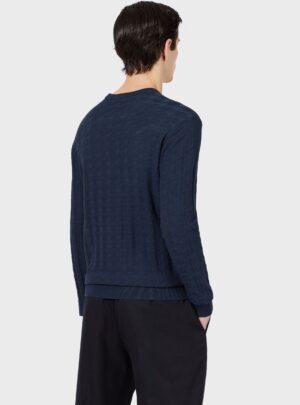 Maglione girocollo con pattern armaturato