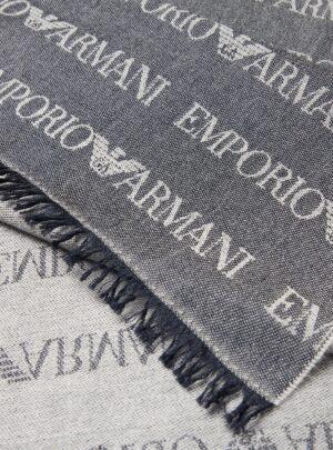 Sciarpa in misto lana con logo jacquard