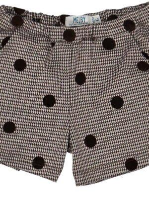 Shorts a pois marroni 06-36 mesi bimba Melby