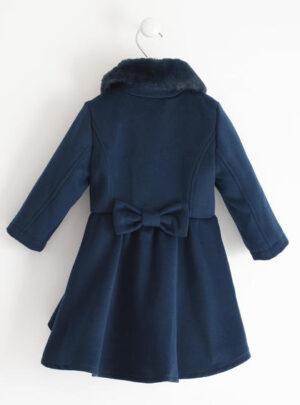 Elegante cappotto in velour con fiocco per bambina da 3 a 7 anni Sarabanda