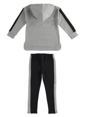 Completo maxi felpa con glitter e leggings per bambina da 8 a 16 anni Sarabanda