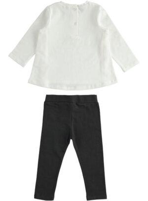 Completo maxi maglia con ruche e leggings per bambina da 3 a 7 anni Sarabanda