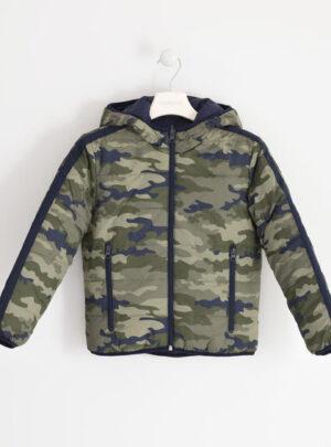 Giubbotto reversibile fantasia check o camouflage per bambino da 8 a 16 anni Sarabanda