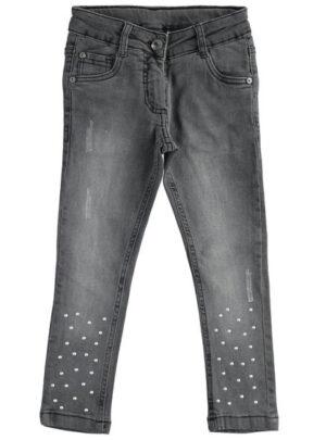 Pantalone in denim con borchie per bambina da 8 a 16 anni Sarabanda