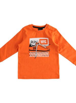 Girocollo in jersey con stampa scarpa da ginnastica per bambino da 3 a 7 anni Sarabanda