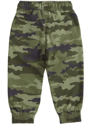 Pantalone in felpa stampa camouflage per bambino da 3 a 7 anni Sarabanda