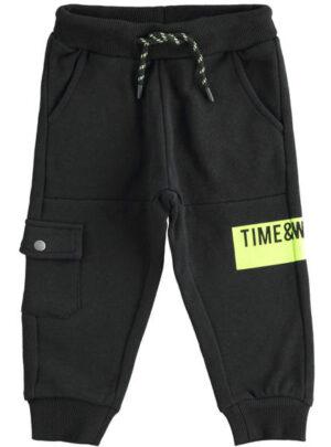 Pantalone sportivo in felpa garzata con tasca laterale per bambino da 3 a 7 anni Sarabanda