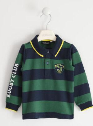 """Polo rigata in cotone con scritta """"Rugby Club"""" per bambino da 3 a 7 anni Sarabanda"""