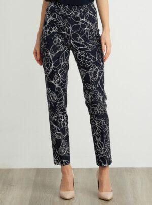 Pantaloni Capri con motivo floreale