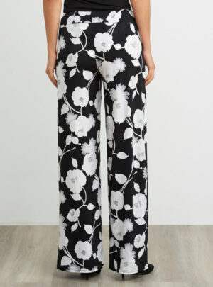 Pantaloni a gamba larga floreale