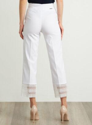 Pantaloni stile Capri con finiture in pizzo