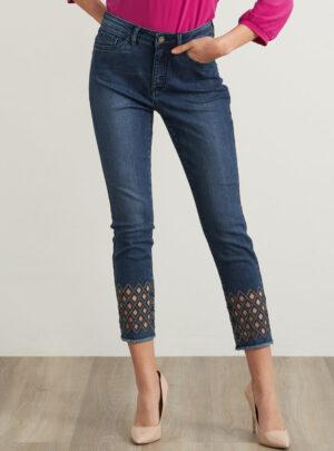 Jeans con taglio a diamante