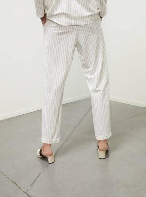 Pantaloni in jersey gessato