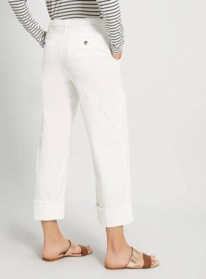 Pantaloni in piqué di cotone