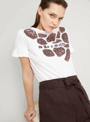 T-shirt in cotone con ricami